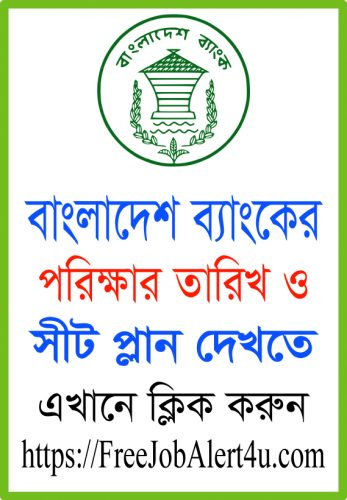 Bangladesh Bank Exam date and seat plan