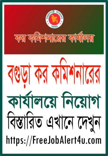 Bogra Tax Commission's Office Job Circular 2018