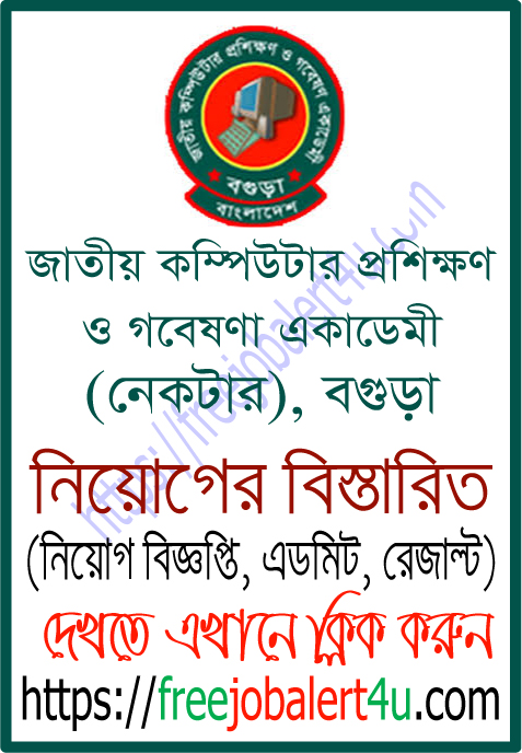 National Academy For Computer Training And Research (NACTAR) Bogra Job Circular