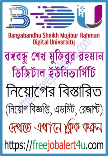 Bangabandhu Sheikh Mujibur Rahman Digital University job