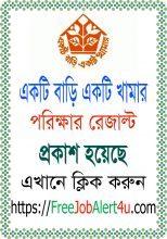 Ekti Bari Ekti Khamar Upazila Coordinator Final Result 2018