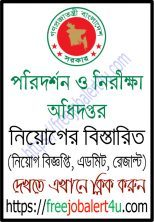 Directorate of Inspection and Audit (DIA) Job Circular