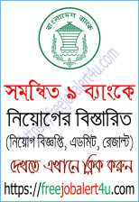 Combined 9 Bank Job Circular